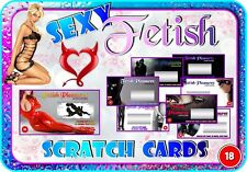 Fetish Scratch Cards Sexy Lovers Scratchcards Customise Bondage Gift Card pack