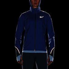 NEW Nike Women's XS HYPER SHIELD LIGHT RUNNING JACKET BLUE 746679 455 REFLECTIVE