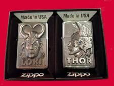 Zippo® LIMITED EDITION 2er SET GÖTTER LOKI + THOR + 2er ZIPPO TWIN BOX NeuNewOVP