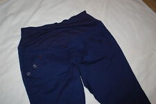 Womens NAVY BLUE MATERNITY PANTS Low Rise LG FRONT TO HOLD BELLY Elast Waist 2X