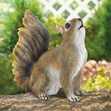 small brown happy lifelike Squirrel patio deck outdoor garden statue yard art