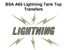 BSA A10 Road Rocket Tank Top Transfers Decals Motorcycle D50076