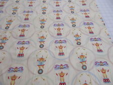 Hallmark David Textiles cotton quilting fabric Circus Bear, Kids projects, BTY