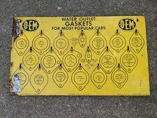 Old Early 1960's Water Outlet Gasket Rack Merchandiser Metal Sign Display 2 feet