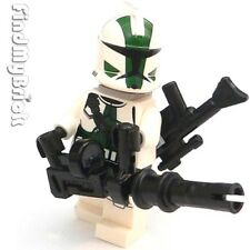 SW197G Lego Star Wars Clone Commander Gree Minifigure with 2 Blasters 9491 NEW