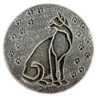"Cat plaque mold garden decorative stepping stone mould 7.75"" x 3/4"" thick"