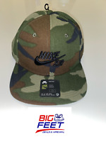 Nike Pro SB Skateboarding Snapback Hat Dunk Camo Green Cap Adult 1 Size Fits All