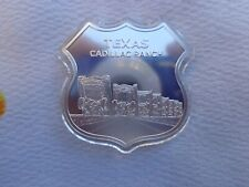 1 oz. Route 66 TEXAS Cadillac Ranch #5 Highway Shield .999 fine silver