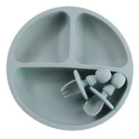 Silicone Plate for Baby,Suction Grip Baby Dish Bowl,Microwave Safe Plates f P9O2