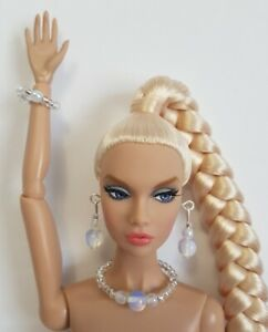 """MooNSToNe DOLL JEWELRY fits 11""""-12"""" Poppy Parker, Barbie Fashionistas NuFace"""