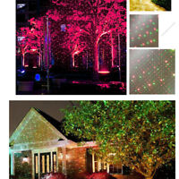 Xmas Halloween Outdoor Moving LED Landscape Laser Projector Lamp Light Garden