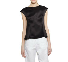 Maison Margiela Black Silk Sleeveless Top 42