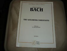 Johann Sebastian Bach A Belwin Classic Condition The Goldberg Variations Book