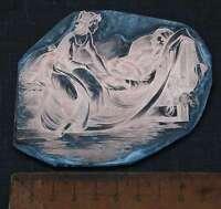 DAME BETT Galvano Druckplatte Klischee Eichenberg printing plate copper print