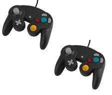 2 X Manette pour Nintendo Wii, Wii U et Gamecube - Noir