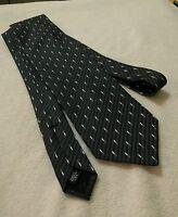 Vintage Murano 100% Silk Grey Neck Tie Necktie Formal Wear Made In USA