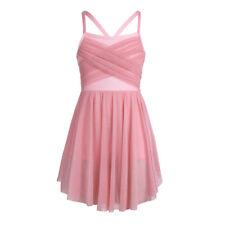 Girls Kids Ballet Leotard Dance Dress Ballerina Lyrical Skirt Dancewear Costumes