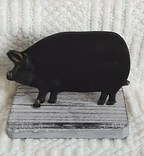 Black Pig Chalk Board On Stand