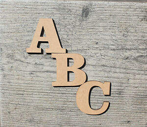 3-30cm Extra Large Wooden Letters Craft Toy Box Signs Home Decor (3mm Thick) MDF