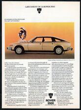 1980 ROVER 3500 Vintage Original Print AD - White car photo Canada FR Kantaroff