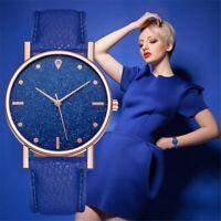 Elegant Women Ladies Crystal Starry Sky Watch Leather Strap Wrist Watches NEW