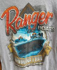 VTG Ranger Boats Domination Boys Mens T Shirt Front Graphics Fishing Angler Tee