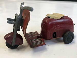 HWN Metal/Plastic Wind Up Vespa/Lambretta Scooter (Very Rare)