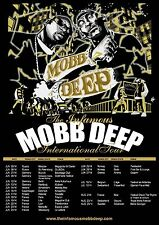 "MOBB DEEP ""INFAMOUS INTERNATIONAL TOUR"" 2014 EUROPEAN CONCERT POSTER-Hip Hop,Rap"