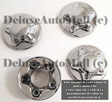"""7 3/4"""" WIDE Chrome New Wheel Center Caps for 97 98 99 2000 Ford F150 (Set of 4)"""
