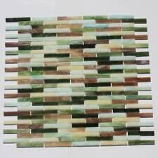 1 SQFT Stained Glass Tiles Mesh Mount DEG9
