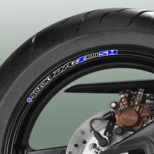 8 x SUZUKI DR-Z 400E Wheel Rim Decals Stickers - drz dr z 125 250 sm drz400E