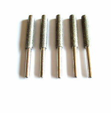 5pc Diamond Chainsaw Sharpening Rotary File Burrs 7/32""