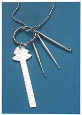 Tatsy Ring and Necklace Pendant / Ruler, Hooks & Chain