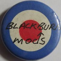 BLACKBURN MODS - Target Old OG Vtg 1980`s Button Pin Badge 25mm Mod Revival