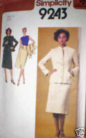 Vintage Simplicity Pattern 1970s Skirt Blouse Jacket 12