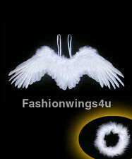 Children's Side span Spread Costume Feather Angel Wings in Black or White