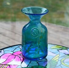 VINTAGE MDINA GLASS MALTESE CROSS VASE 16cm