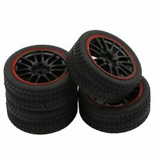 Tires for RC 1:10 Off Road Drift Car 14 Spoke Plastic Hub Tires and wheels Ri...