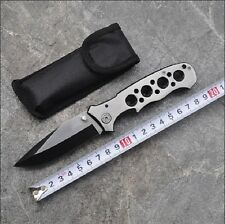 Full Steel Blade Folding Pocket Knife with Nylon Sheath Tactical Survival Campin