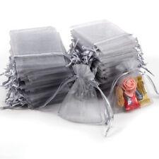 100x Sac Pochette Sachet Organza Gris dragée cadeau faveur bijoux mariage fete