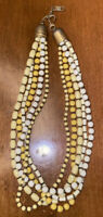 Vintage Made In Italy Beaded Unique Necklace Colorful Signed