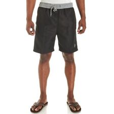 U.S. Polo Assn. Mens Swim Trunks With Contrast Waistband Embroidered Logo XLarge