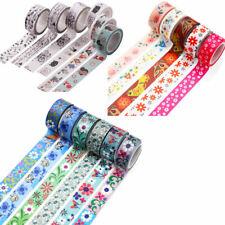 NEW DIY Floral Roll Tape Sticker Scrapbooking Decor Masking Adhesive Washi Paper