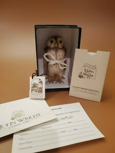 LM R. John Wright Winnie The Pooh Pocket Owl Mohair Limited Edition Plush Doll