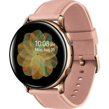 Samsung - Galaxy Watch Active2 Smartwatch 40mm Stainless Steel LTE - Gold & Pink