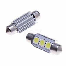 10 Stück Soffitte Canbus 36mm 5050 SMD 3 LED Xenon Weiß Innenraumbeleuchtung 12V