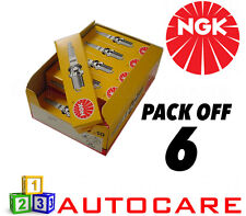 NGK Replacement Spark Plug set - 6 Pack - Part Number: BKUR6ET-10 No. 2397 6pk