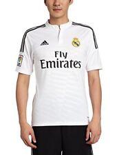 Maillots de football de clubs espagnols blancs longueur manches manches courtes, taille S