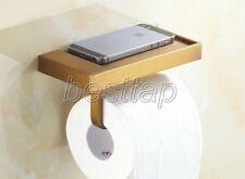 Antique Brass Bathroom Wall Mounted Toilet Paper Holder Tissue Roll Rack sba170