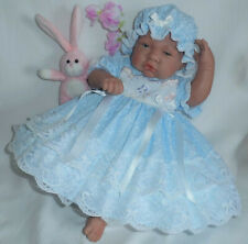 """Dolly Togs Lilac Frilly Dress Headband Fit 0-3 Mth Baby 20-24/"""" Reborn Doll 2058"""